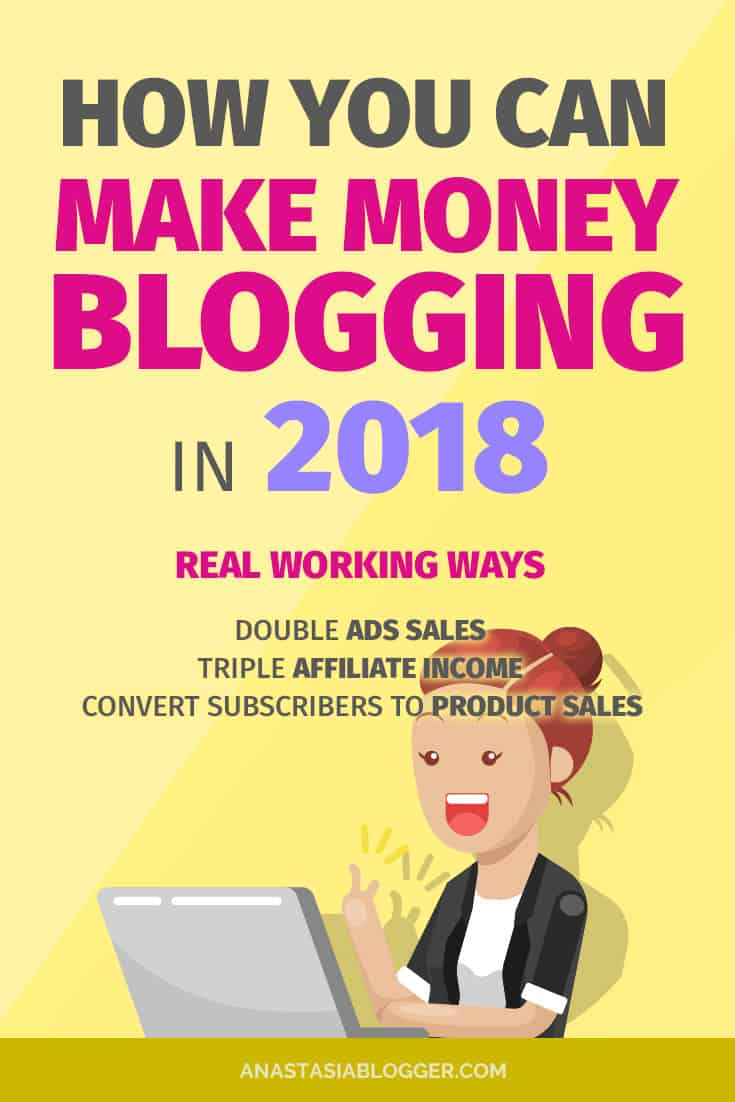Want to learn how to make money blogging in 2018? Grab the best ways to make money blogging for beginners. I tried these monetization strategies on my new blog and they work! Can you make money blogging fast or does it take years? All answers at anastasiablogger.com
