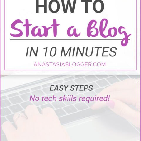 How to Start a Blog in 10 minutes: a Step-by-Step Guide for Beginners. Start your blog and make money online!