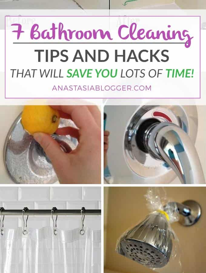 Bathroom cleaning tips, bathroom cleaning hacks that will save you lots of time! Bathroom cleaning shower, bathroom cleaning bathtab, bathroom cleaning DIY, bathroom cleaning mold, bathroom cleaning toilet, etc.