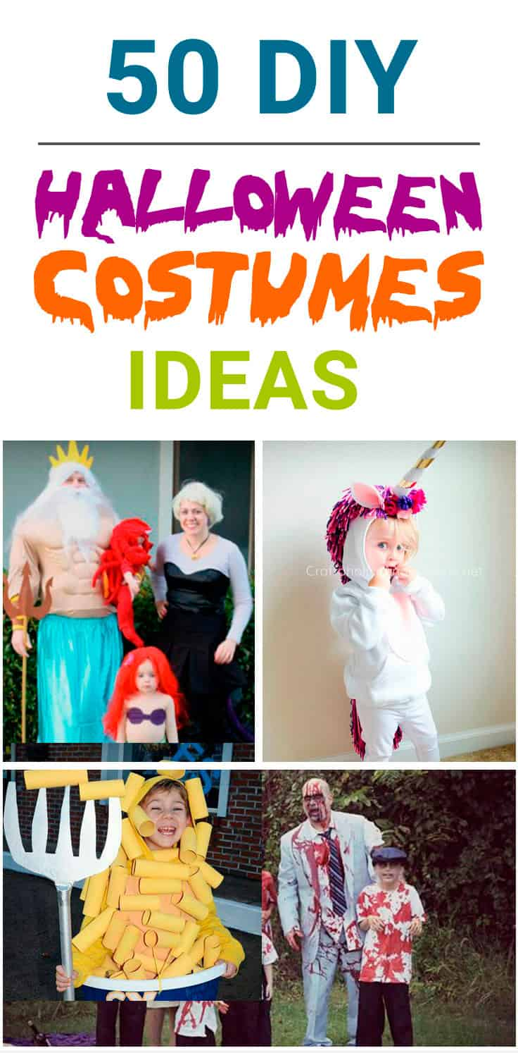 DIY Halloween Costumes Ideas to try this year! Family Halloween costumes, food costumes, DIY ideas for couples, simple Halloween costumes for women, kids. Explore these DIY costumes and Halloween Ideas for 2018!