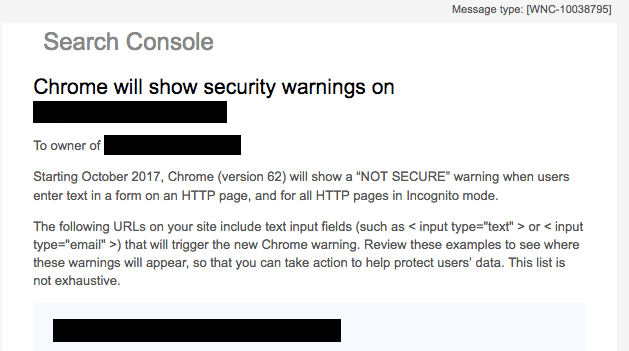 Google warning about HTTP - HTTPS - SSL certificate