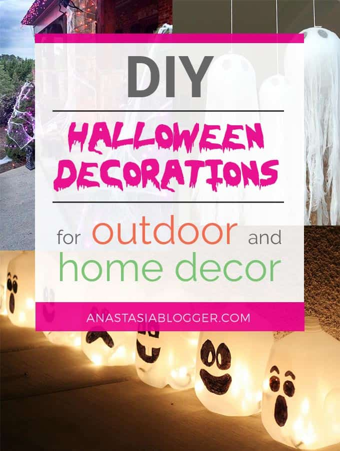 Best DIY Outdoor Halloween Decorations! Check these Halloween projects for inspiration and make our yard and home decor amazing for a Halloween party!