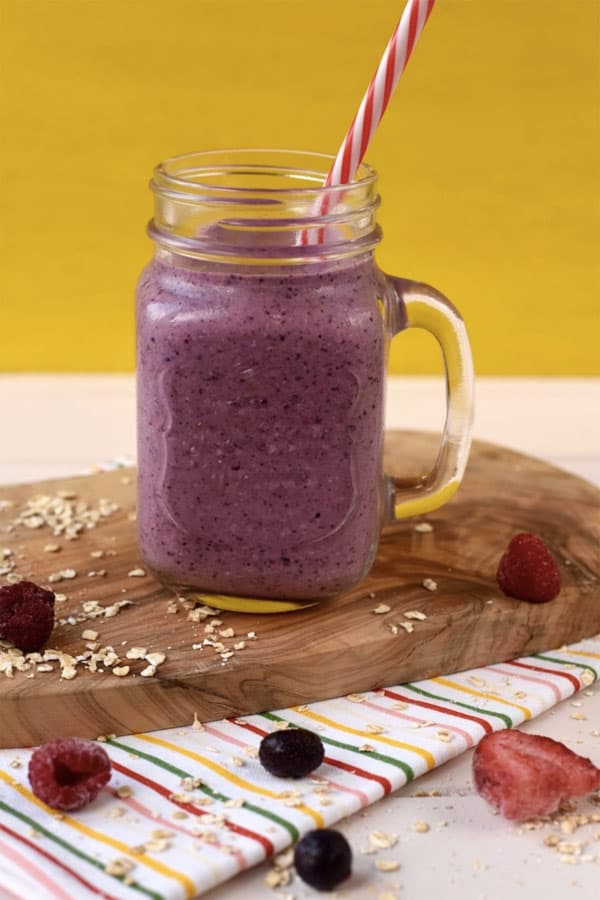 Triple Berry Oat Smoothie. These healthy smoothies for weight loss will indulge you in your fat burning journey. Get these healthy smoothies recipes as a meal replacement for a flat belly, and boost your metabolism! These weight loss smoothie recipes will help you keep your diet and still feel like you can have amazingly tasty treats!