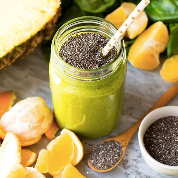 Green Smoothie withChia seeds. These healthy smoothies for weight loss will indulge you in your fat burning journey. Get these healthy smoothies recipes as a meal replacement for a flat belly, and boost your metabolism! These weight loss smoothie recipes will help you keep your diet and still feel like you can have amazingly tasty treats!