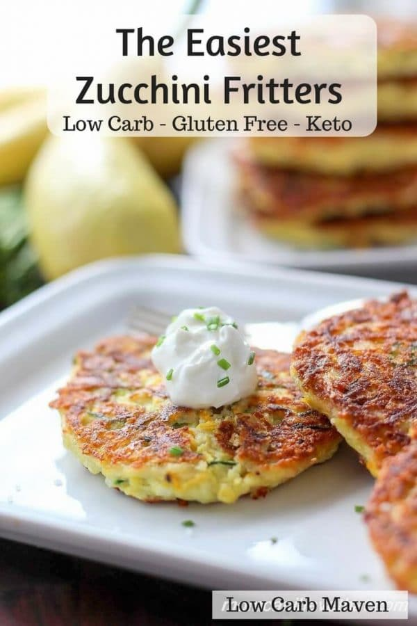 Zucchini Fritters - Here are hand-picked simple 12 DIY Keto Snacks On the Go for keeping you Ketogenic diet all the day and even while traveling. These low carb savoury fat bombs and treats will fill you up and help you lose weight. Take these home-made Keto snacks to work or a trip – they are easy to keep and heat up. #keto #ketogenic #ketorecipes #ketogenicdiet #ketodiet