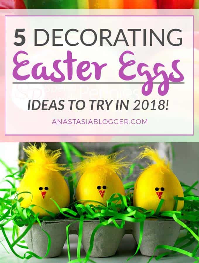 Check out my TOP 5 Easter Decorations Ideas for Eggs to Try this year! Coloring Easter Eggs can be an adventure for all the family! Best Easter Decorations DIY for Kids.