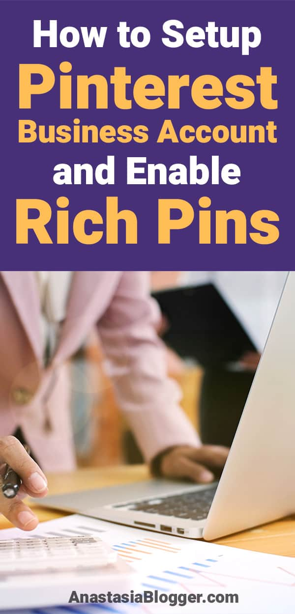 Pinterest marketing tips. To get higher Pinterest traffic you need to set up Pinterest Business account and Enable Rich Pins. Social media marketing tips.