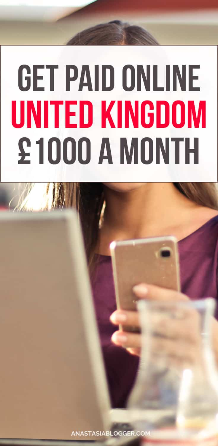 Do you want to make money online working at home in the United Kingdom? Earn extra £1000 per month or more - best make money on the side ideas. Check fast ways to make money online in the UK while working from home!