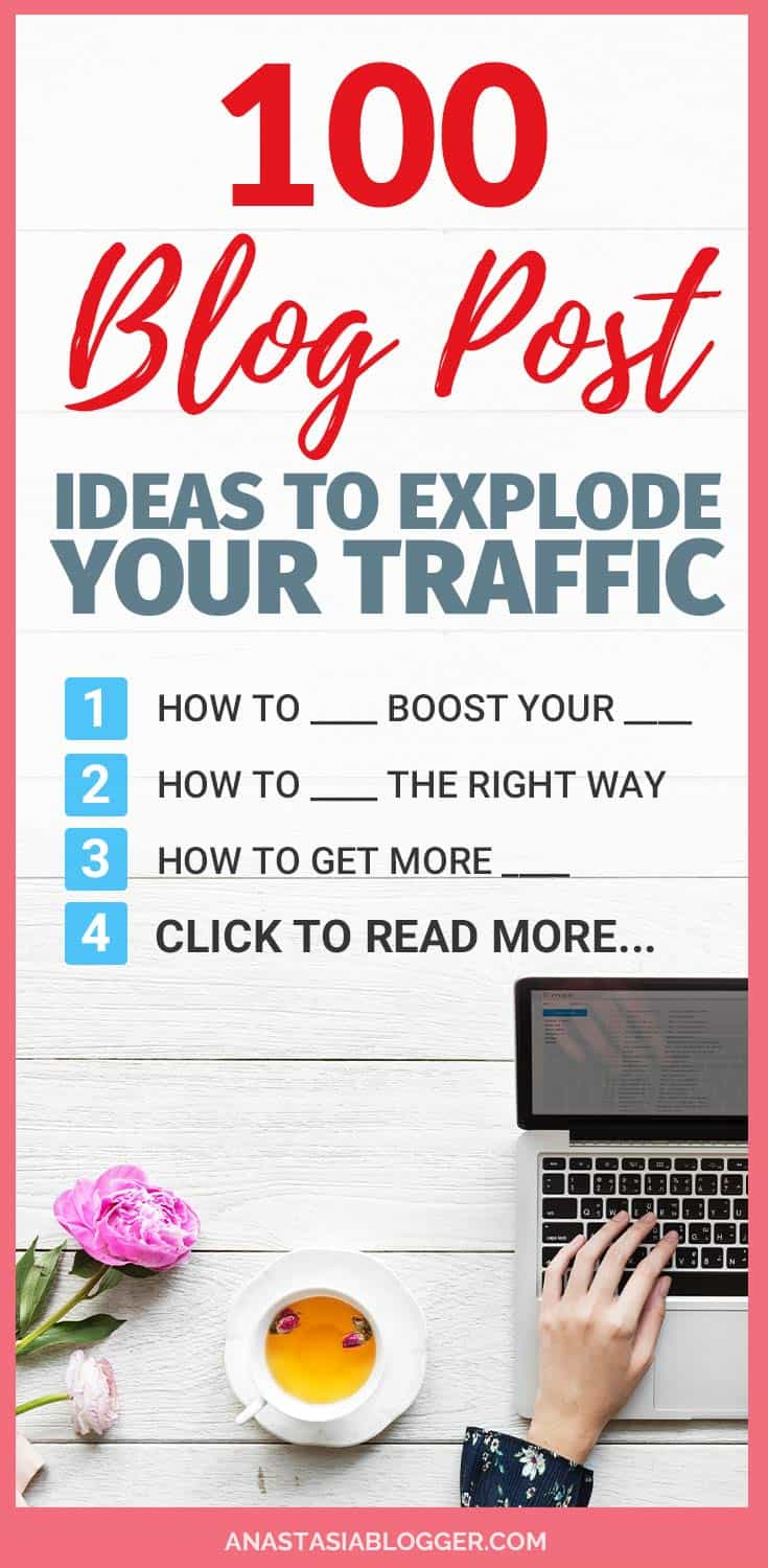 Thinking about new blog post ideas might be one of the most difficult tasks for a new blogger. How do you create catchy blog post titles, which generate tons of shares, likes and ultimately help your posts go viral? Get here 100 creative inspiration blog post ideas and explode your traffic with viral posts!