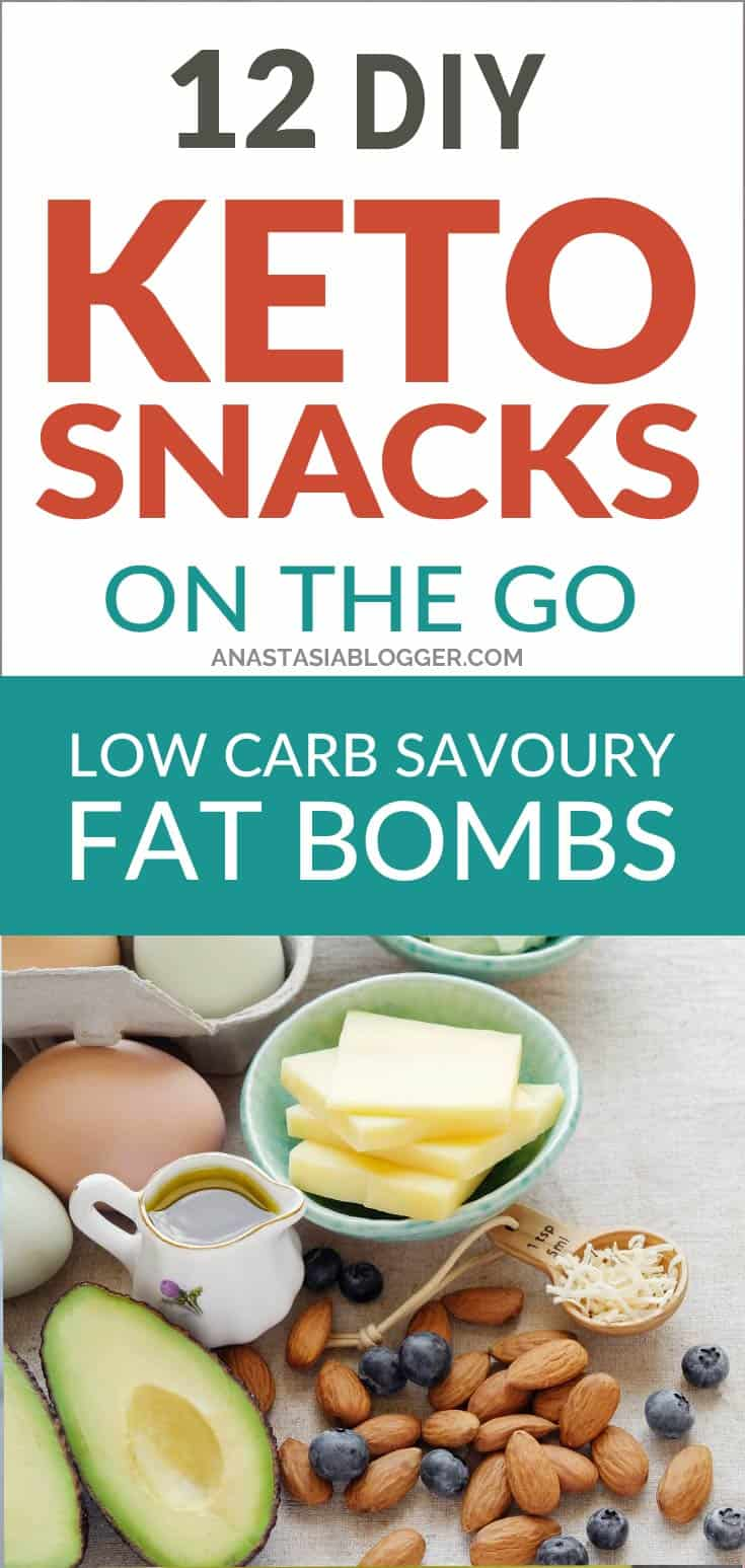 Keto diet. Keto Snacks On the Go for staying in Ketosis all the day and even while traveling. These low carb savory fat bombs and treats will fill you up and help you lose weight. Take these home-made Keto snacks to work or a trip – they are easy to keep and heat up. #keto #ketogenic #ketorecipes #ketogenicdiet #ketodiet