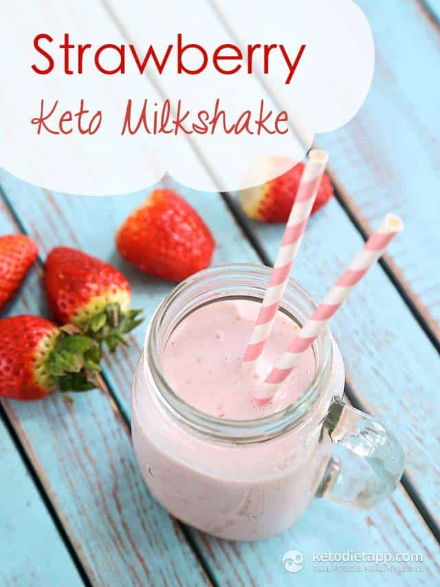 Strawberry Keto Milkshake - Easy Keto Breakfast to start burning fat. Keto Breakfast on the go, Keto breakfast make ahead recipes. Eggs cooked in creative ways are the basis of your breakfast on a Ketogenic diet. But it's not eggs only! You can have a no eggs Keto breakfast with muffins, Keto breakfast pancakes or Keto breakfast smoothie. #keto #ketogenic #ketodiet #breakfast #ketorecipes