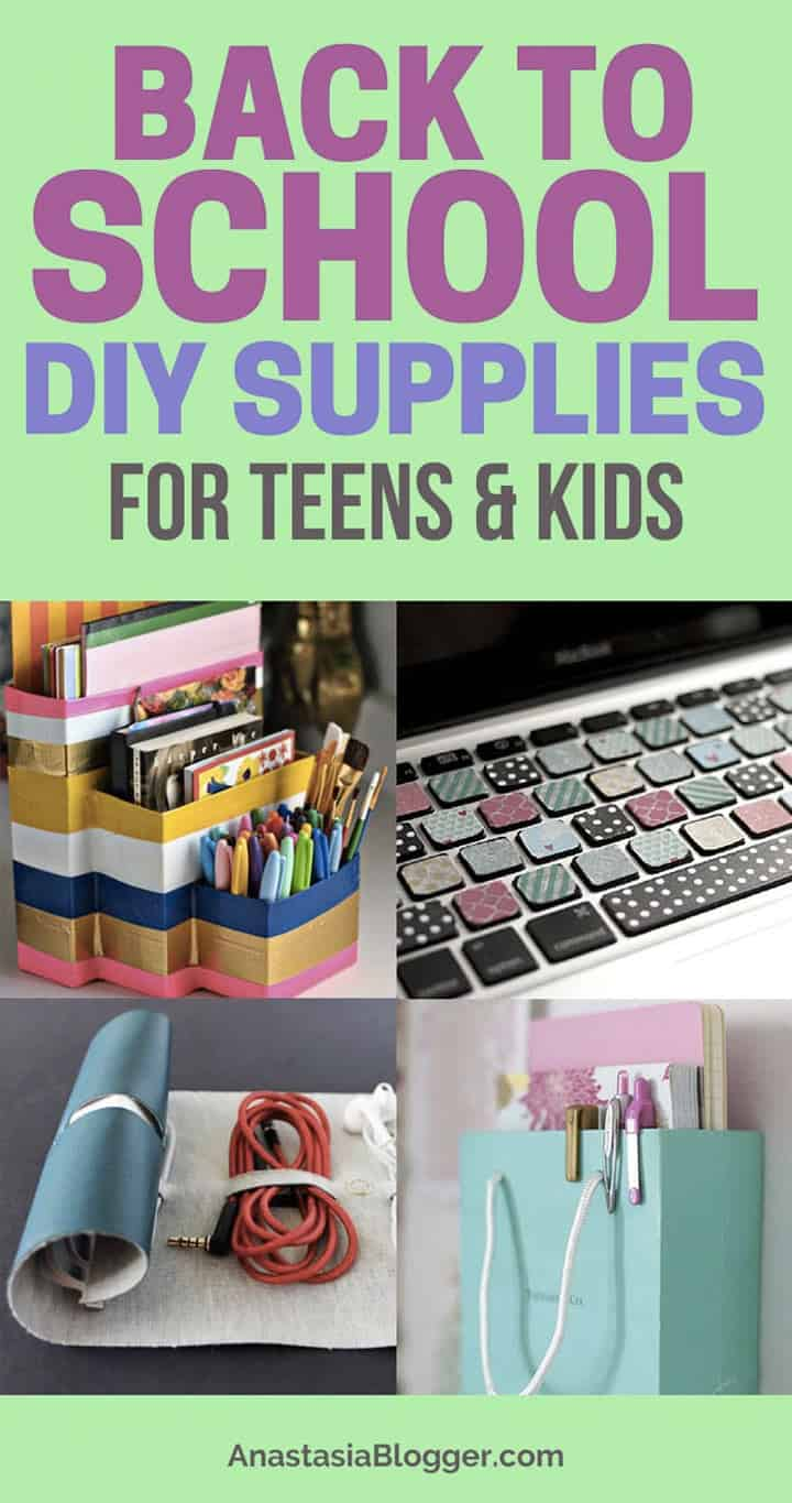 Back to school supplies. DIY back to school supplies are not necessarily cheaper than the ones you can get from a local store, but they definitely are more personalized and unique. That's exactly what every kid or a teen wants to be! Get some back to school crafts ideas!