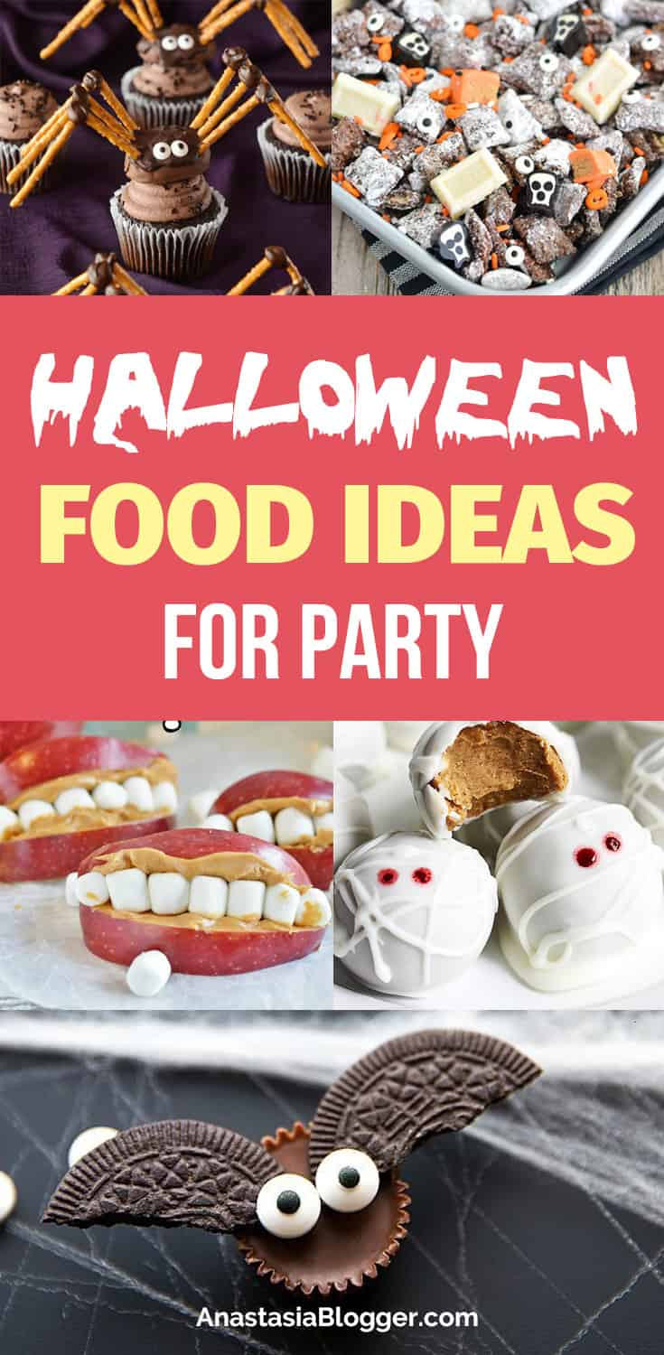Get here amazing Halloween food ideas for party and Halloween treats for kids. DIY creepy appetizers and desserts for a crowd in your house or for a school party. Easy Halloween food ideas and recipes for adults.