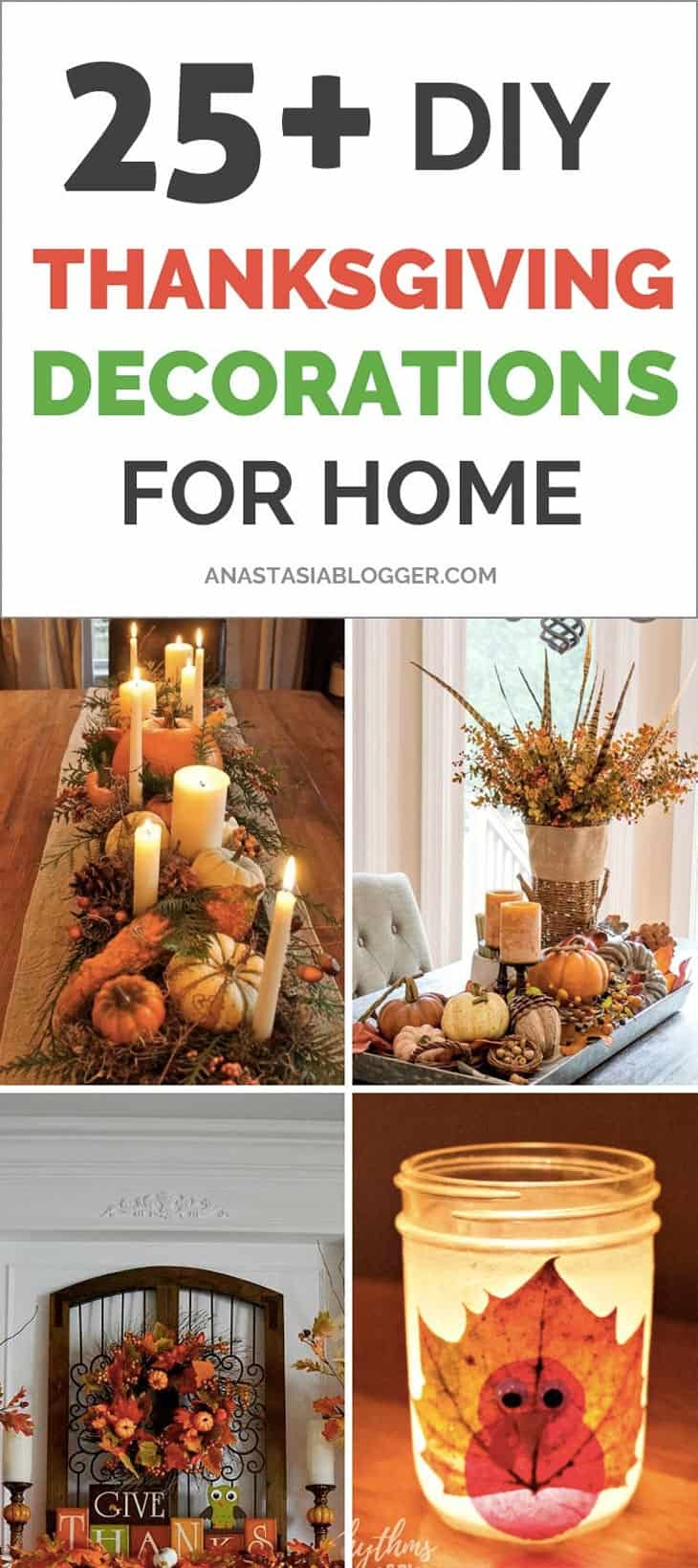 25+ DIY Thanksgiving Decorations for Home to try this year! Check these cheap and easy rustic Thanksgiving decorations table, for porch, for outdoor. Best Thanksgiving crafts ideas for kids to take part in DIY Thanksgiving party! #thanksgivingideas #thanksgivingdecor #thanksgivingday