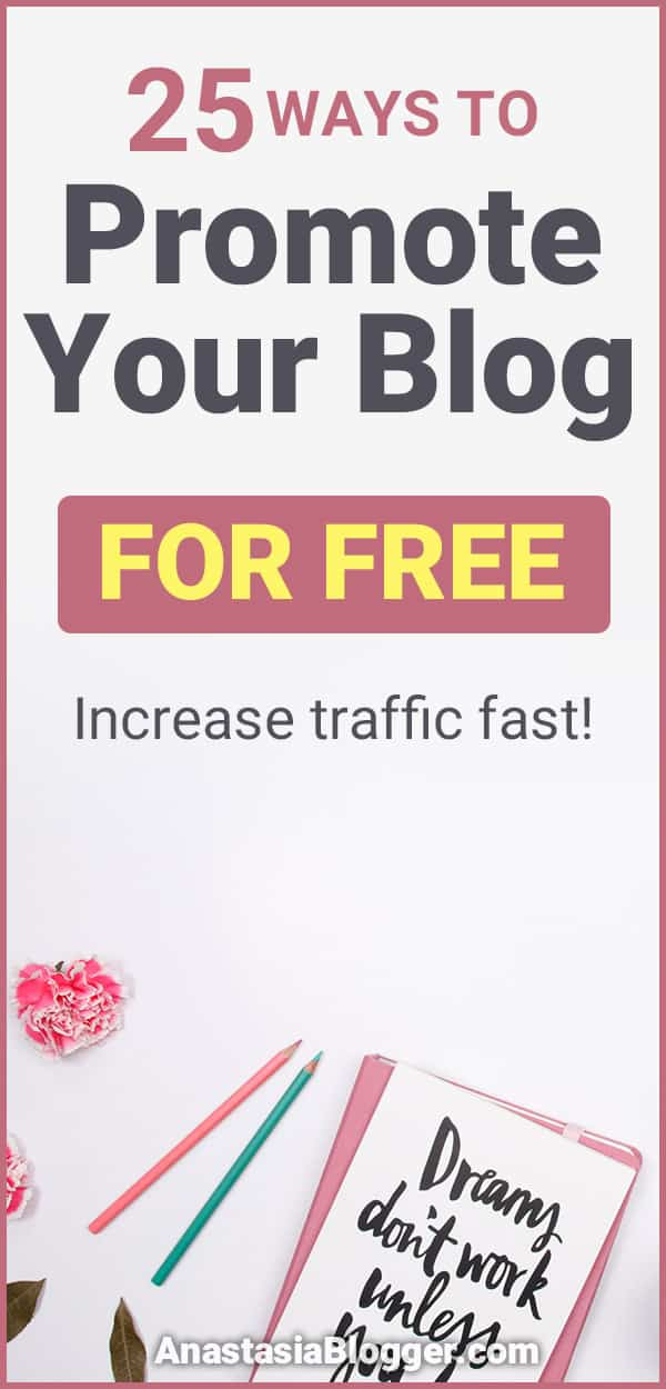Here are 25 places to promote your blog for free that will help you drive a ton of traffic to your blog! All without spending a single cent on advertising