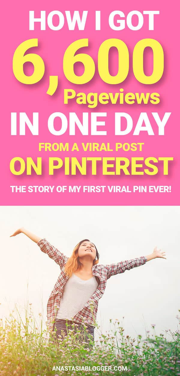How to Get your Post Go Viral on Pinterest - 6,600 Pageviews from One Pin ina Day. Pinterest marketing tips for bloggers. Pinterest tips. Social media tips. Social media marketing for growing your blog traffic. #pinterestmarketing #pinteresttips #socialmedia #socialmediamarketing #blogging #bloggingtips