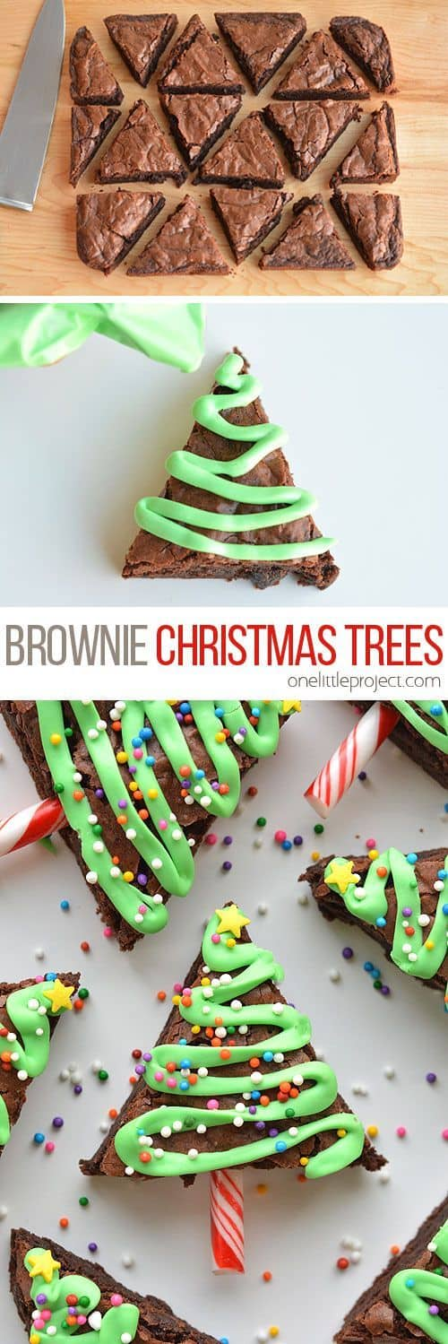 Easy Christmas Tree Brownies - Best Christmas Desserts - Recipes and Christmas Treats to Try this Year! Try these amazing and cute easy Christmas dessert recipes to have a great party for your kids, friends, and family! Cupcakes, cakes, sweet bites, pies, brownies, home-made Christmas popcorn, Christmas cookies and other delights. #christmas #dessertfoodrecipes #xmas #recipes #food #christmasfood