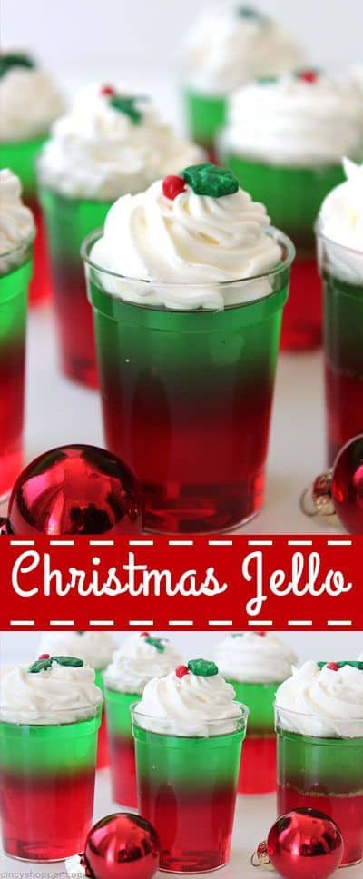 Christmas Jello - Best Christmas Desserts - Recipes and Christmas Treats to Try this Year! Try these amazing and cute easy Christmas dessert recipes to have a great party for your kids, friends, and family! Cupcakes, cakes, sweet bites, pies, brownies, home-made Christmas popcorn, Christmas cookies and other delights. #christmas #dessertfoodrecipes #xmas #recipes #food #christmasfood