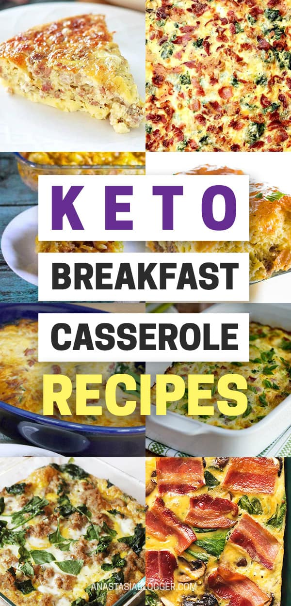 Best Keto Breakfast Casserole Recipes for Ketogenic Diet. Try these amazing Keto breakfast casserole recipes with bacon, cream cheese, spinach or with ham. Great low carb make ahead breakfast, also some slow cooker recipes. #keto #ketogenic #ketorecipes #diet #food #lowcarb