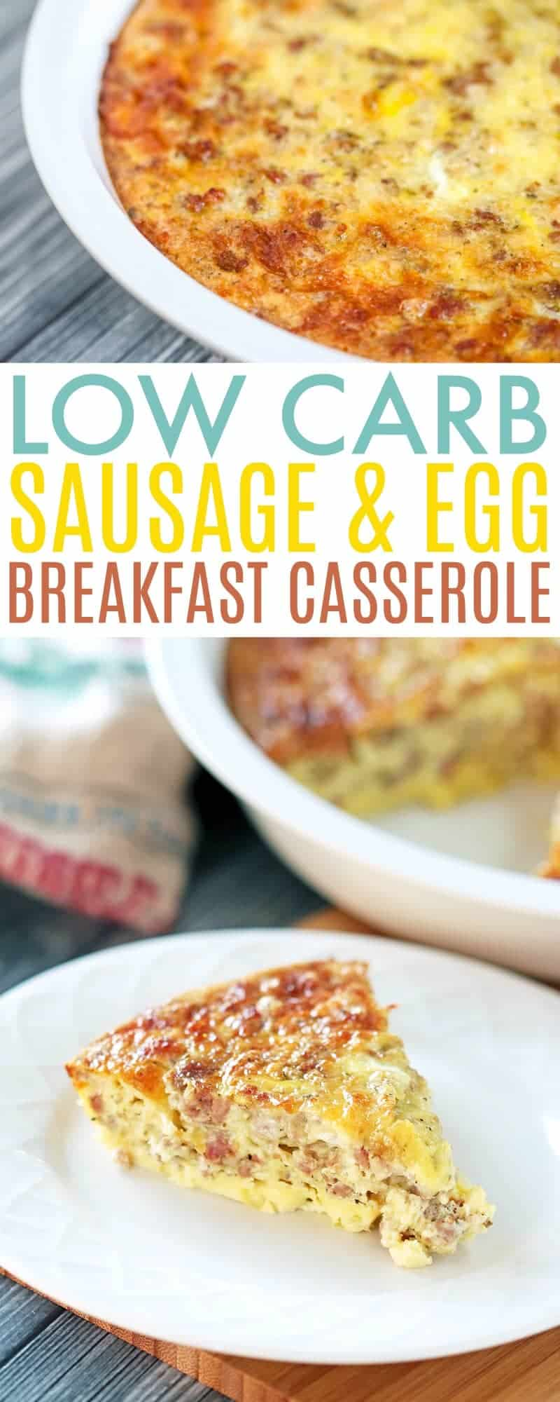 Low Carb Breakfast Casserole - Low Carb Sausage and Egg - Best Keto Breakfast Casserole Recipes for Ketogenic Diet. Try these amazing Keto breakfast casserole recipes with bacon, cream cheese, spinach or with ham. Great low carb make ahead breakfast, also some slow cooker recipes. #keto #ketogenic #ketorecipes #diet #food #lowcarb
