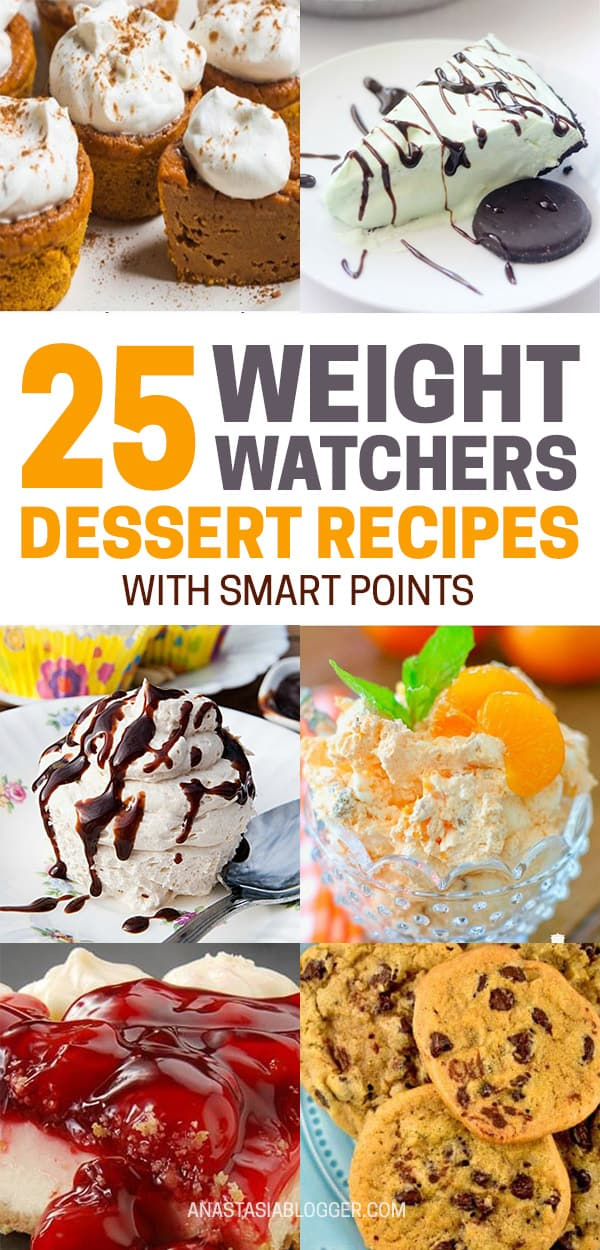 The Best Weight Watchers Desserts - Recipes with SmartPoints. Save these most delicious and healthy Weight Watchers dessert recipes with SmartPoints to your Pinterest board! Your weight loss can be guilt-free even with desserts! #weightwatchers #weightlossplans #dessertfoodrecipes #smartpoints #recipes #food #diet