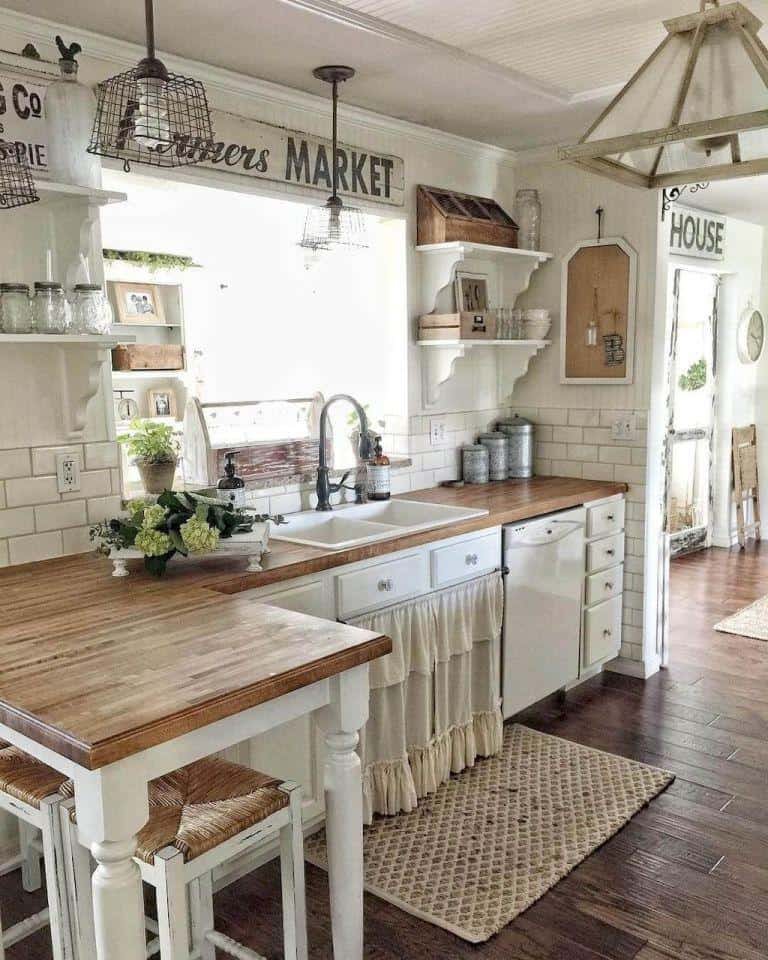 Farmhouse Kitchen Ideas On A Budget Rustic Kitchen Decor