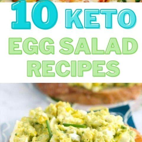 10 Keto Egg Salad Recipes - Easy Low Carb Salad for Keto Diet