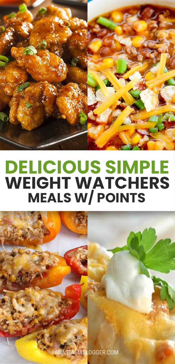 Weight Watchers Meals with Smartpoints - Dinner, Chichen and Desserts. Get the best ideas of dinners, lunches and desserts - weight watchers recipes with low SmartPoints to keep you on a healthy and delicious diet! #weightwatchers #diet #meals #smartpoints #food #recipes #healthyrecipes #healthyfood #health #delicious