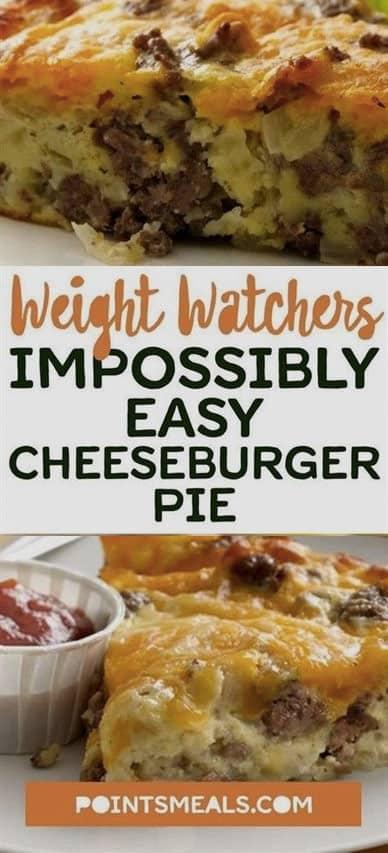 Weight Watchers Easy Cheeseburger Pie