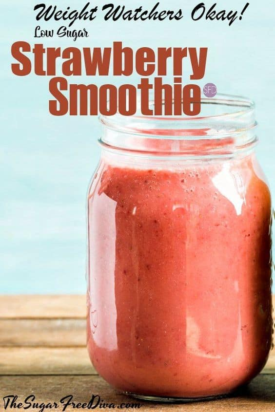 Weight Watchers Friendly Strawberry Smoothie