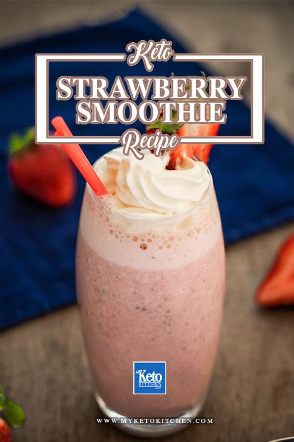 Keto Strawberry Smoothie – Low Carb Thick