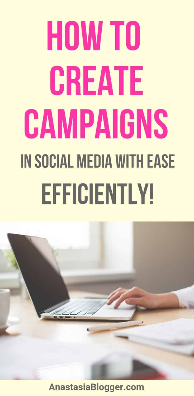create social media campaigns