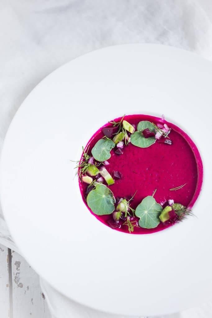 Simple Delicious Beet Gazpacho