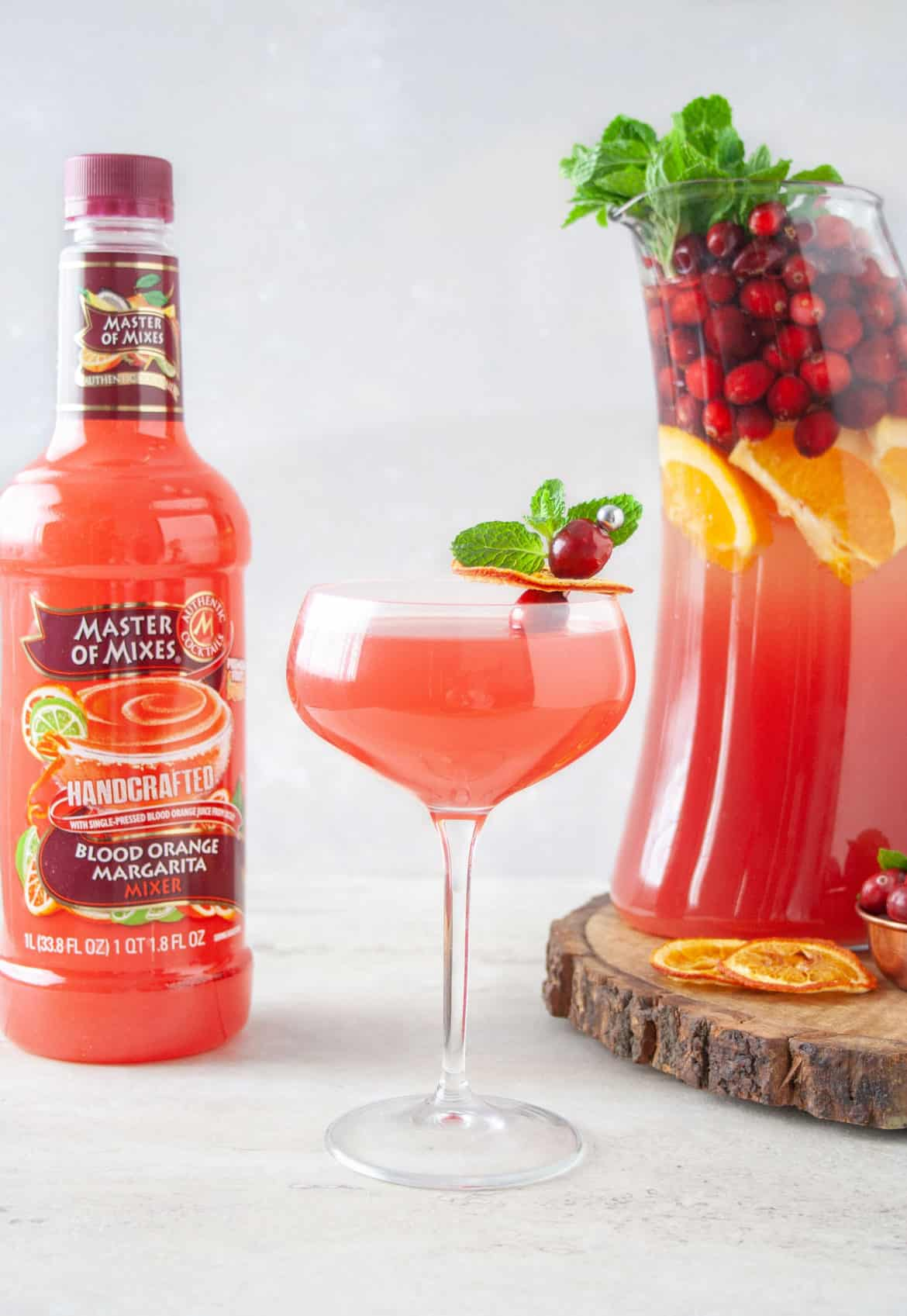 Blood Orange and Cranberry Punch