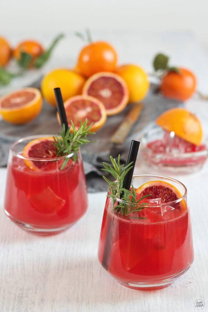 Blutorangen Gin Cocktail