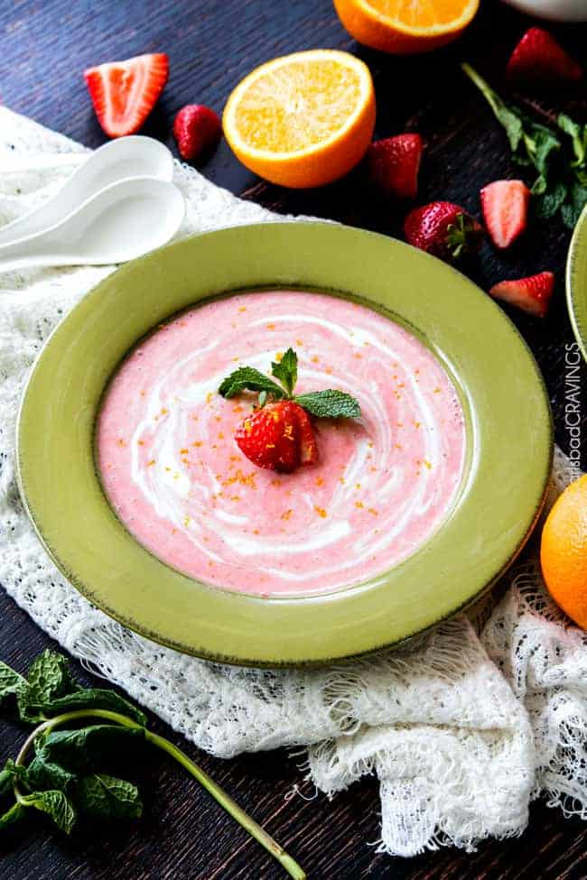 Strawberry Soup Made in 5 Minutes!