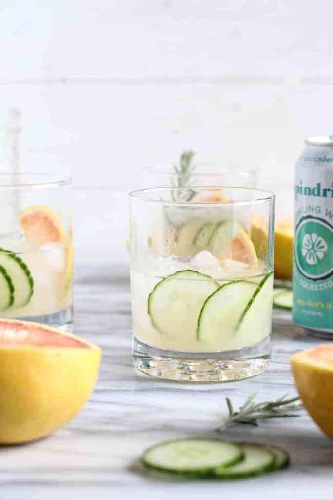 Grapefruit Cucumber Gin Cocktail