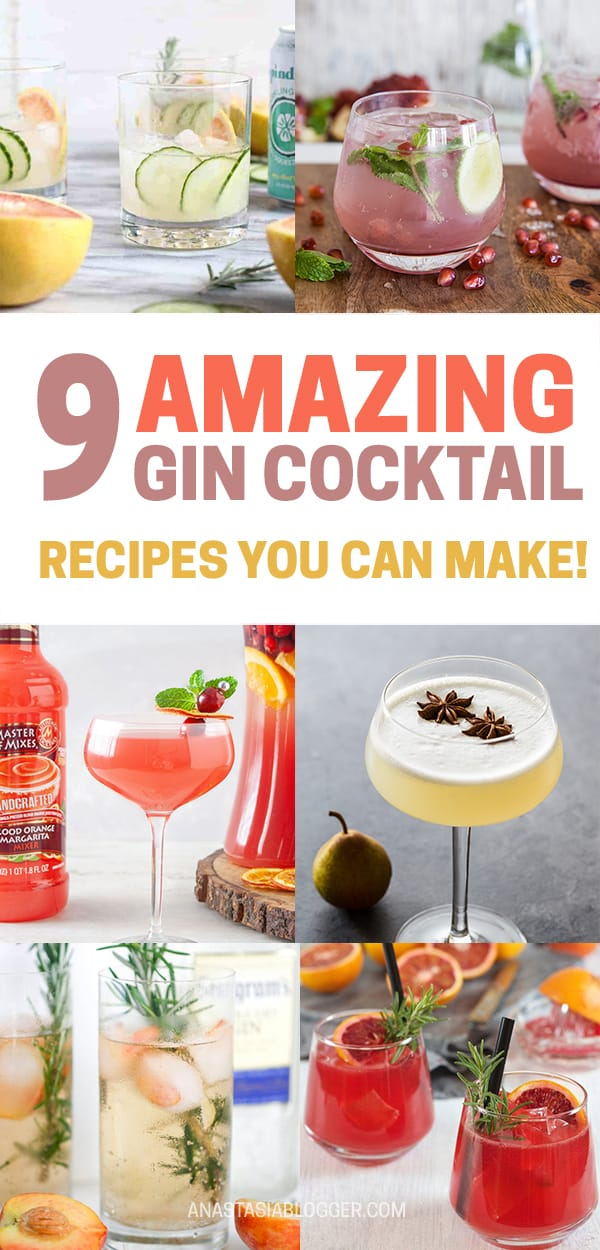 Cocktail Recipes with Gin for Summer - Simple Alcoholic Beverages