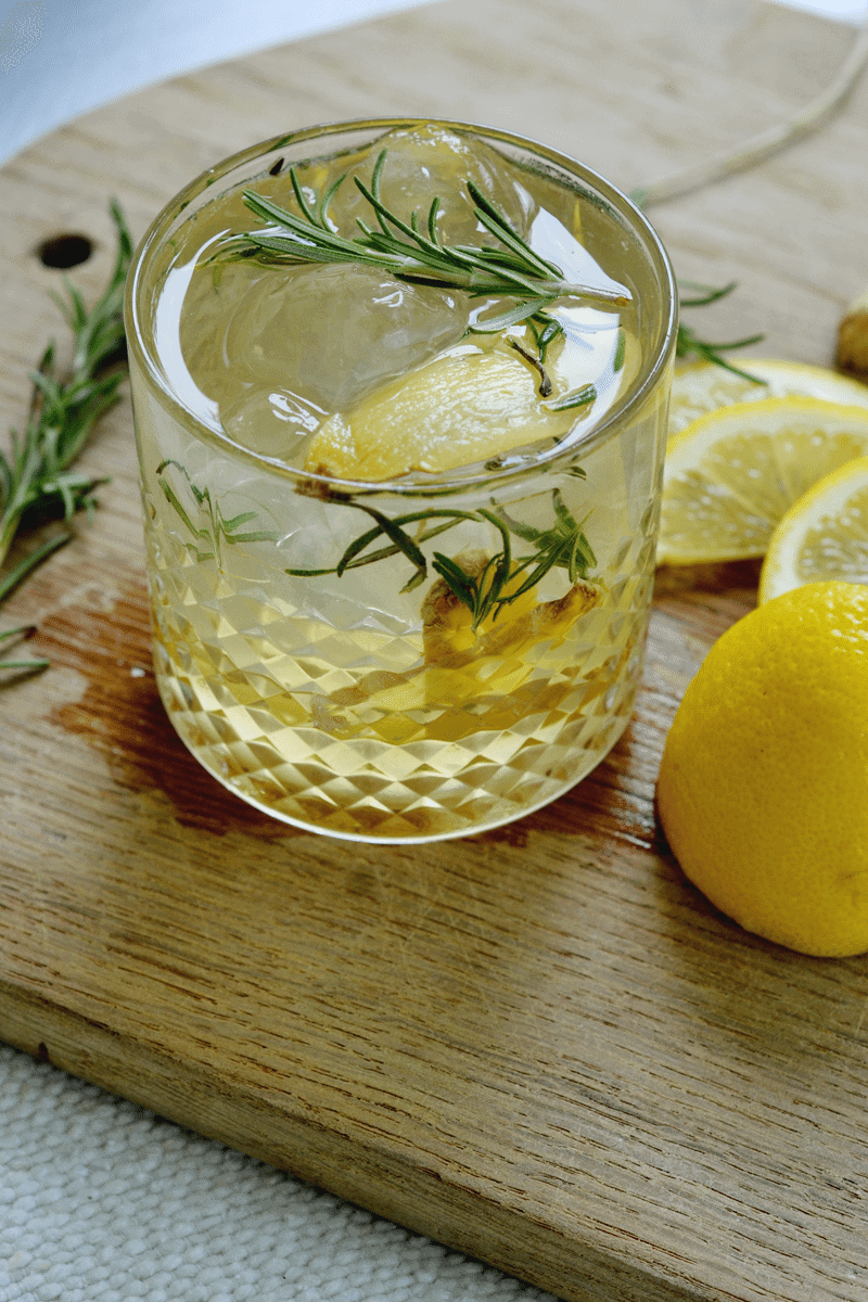 Ginger and rosemary cocktail