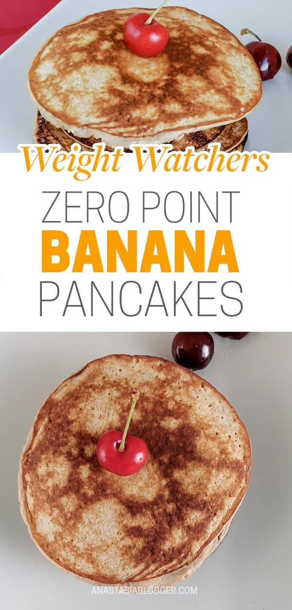 Zero Point Flourless Weight Watchers Banana Pancakes | 0 SmartPoints Each!