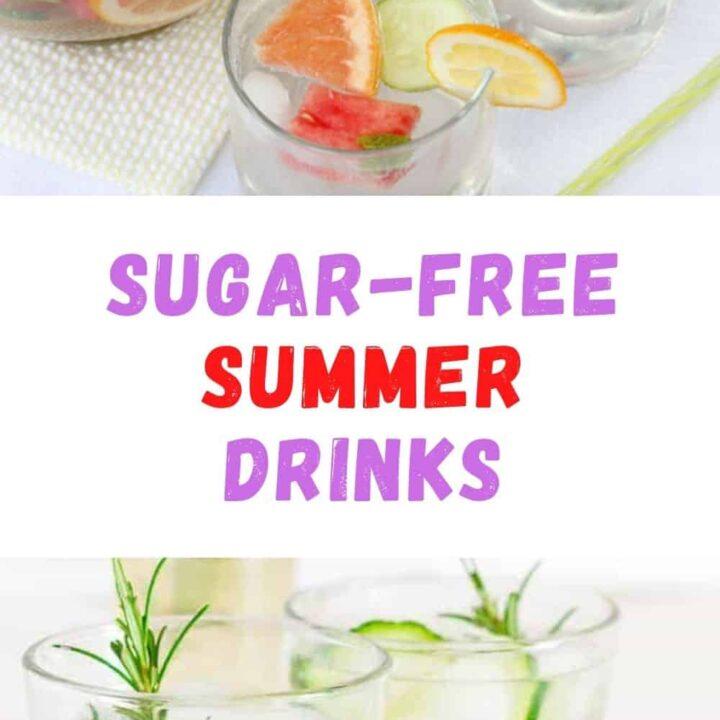 15 Natural Sugar-Free Fruit and Herbs Summer Drinks