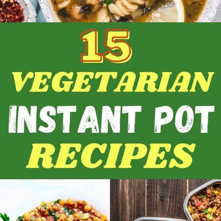 15 Tasty Vegetarian Instant Pot Recipes | Healthy Vegetarian Recipes